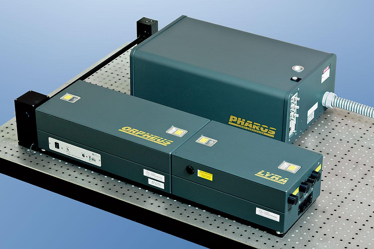 高繰り返し・広帯域波長可変レーザシステム PHAROS+ORPHEUS+LYRA