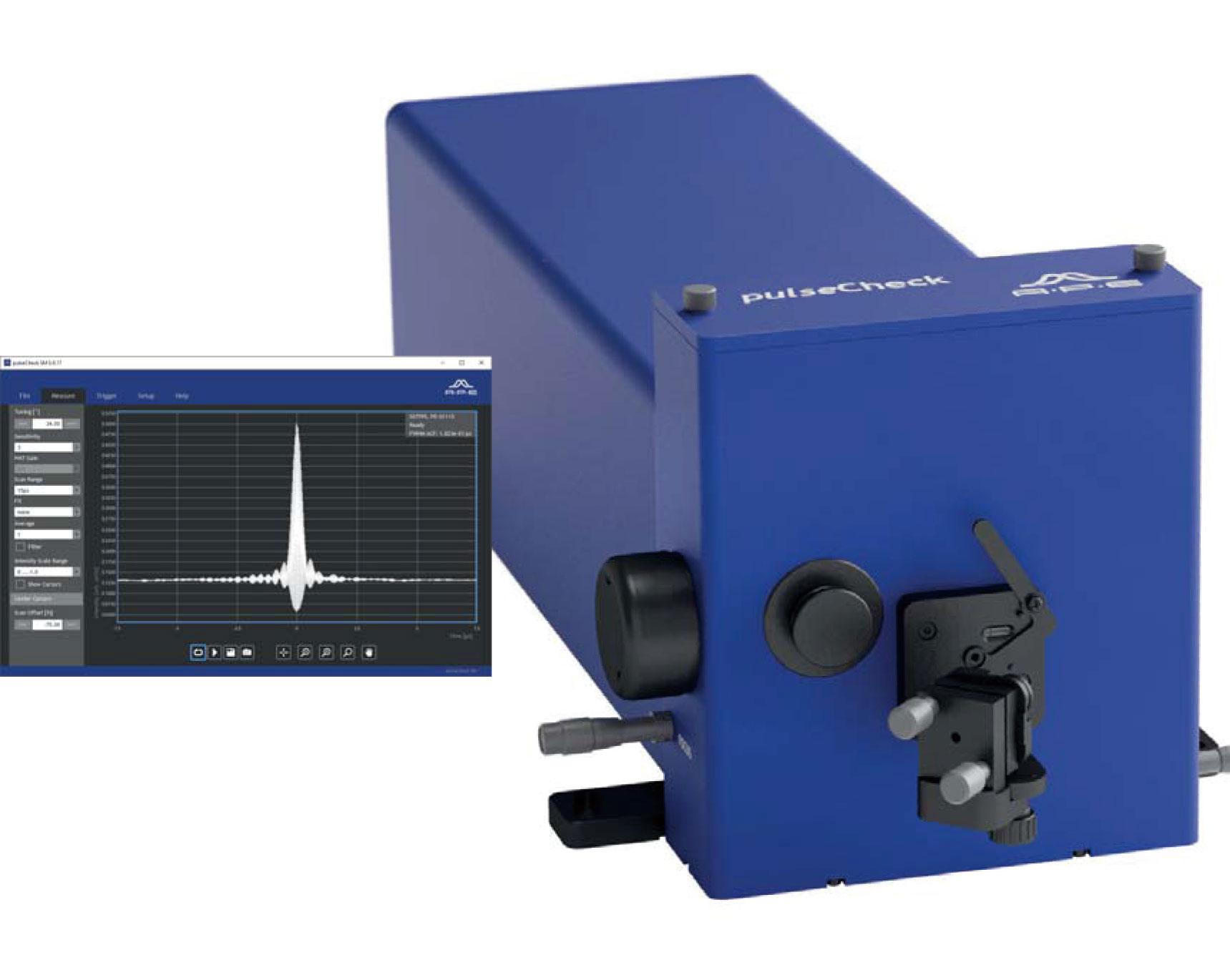 広帯域・⾼速⼀体型極短パルス幅測定器 pulseCheck SM2000