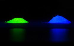 LED-phosphor-green-blue-glow