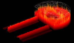 D-shaped laser