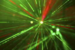 Laser lights in various colors