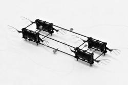 図4 】4アクチュエータ、 8 翼ソフトRoboBee ( 画像提供 The Harvard MicroRobotics Lab/ Harvard SEAS